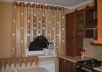 Пошив арки для кухни на люверсах