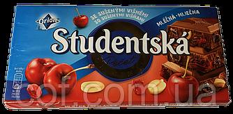 Шоколад молочный Orion Studentska Pecet с вишней 180г (Чехия)