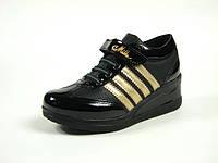 Детская обувь ботинки-кроссовки демисезонные для девочки р.31-34 ТМ Миле, код 105-113 Черный