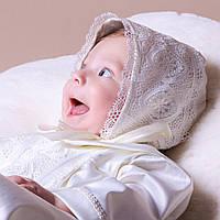 Детская шапочка  Елисей от Miminobaby молочная