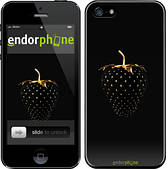 """Чехол на iPhone 5s Черная клубника """"3585c-21"""""""