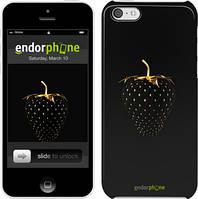 "Чехол на iPhone 5c Черная клубника ""3585c-23"""