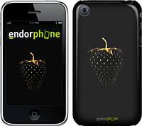 """Чехол на iPhone 3Gs Черная клубника """"3585c-34"""""""