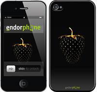 """Чехол на iPhone 4 Черная клубника """"3585c-15"""""""