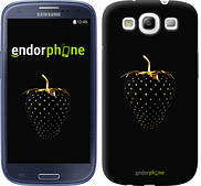 "Чехол на Samsung Galaxy S3 Duos I9300i Черная клубника ""3585c-50"""