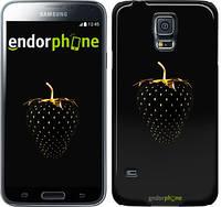 """Чехол на Samsung Galaxy S5 Duos SM G900FD Черная клубника """"3585c-62"""""""