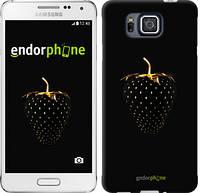 """Чехол на Samsung Galaxy Alpha G850F Черная клубника """"3585c-65"""""""