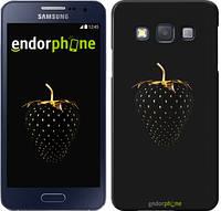 "Чехол на Samsung Galaxy A3 A300H Черная клубника ""3585c-72"""