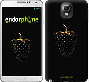 "Чехол на Samsung Galaxy Note 3 N9000 Черная клубника ""3585c-29"""