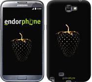 "Чехол на Samsung Galaxy Note 2 N7100 Черная клубника ""3585c-17"""