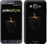 "Чехол на Samsung Galaxy J7 J700H Черная клубника ""3585c-101"""