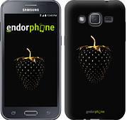 "Чехол на Samsung Galaxy J2 J200H Черная клубника ""3585c-190"""