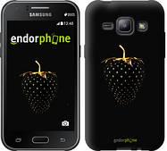 "Чехол на Samsung Galaxy J1 J100H Черная клубника ""3585c-104"""