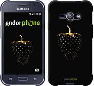 "Чехол на Samsung Galaxy J1 Ace J110H Черная клубника ""3585c-215"""