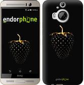 """Чехол на HTC One M9 Plus Черная клубника """"3585u-134"""""""
