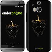"Чехол на HTC One M8 dual sim Черная клубника ""3585c-55"""
