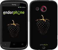 """Чехол на HTC Desire C A320e Черная клубника """"3585u-225"""""""