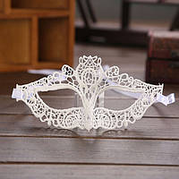Кружевная маска маскарадная белая