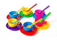"""Игровой набор детской посуды """"Юна господарочка"""" на 6 персон."""