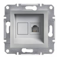 Розетка Schneider-Electric Asfora Plus телефонная RJ11 алюминий