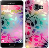 "Чехол на Samsung Galaxy A3 (2016) A310F Листья ""2235c-159"""