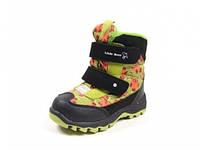 Зимние термо-ботинки для девочки р. 22-27 ТМ B&G, код ZTE132-011I