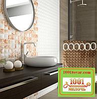 Силиконовая шторка для ванной комнаты с 3D эффектом, размер 180х180 см., коричневая