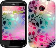 """Чехол на HTC Desire C A320e Листья """"2235u-225"""""""