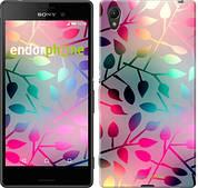 "Чехол на Sony Xperia Z3+ Dual E6533 Листья ""2235u-165"""