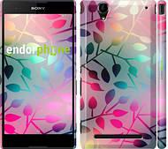 """Чехол на Sony Xperia T2 Ultra Dual D5322 Листья """"2235c-92"""""""
