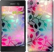 """Чехол на Sony Xperia M5 Листья """"2235c-217"""""""