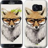 "Чехол на Samsung Galaxy S7 Edge G935F Лис в очках ""2707c-257"""