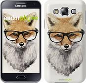 "Чехол на Samsung Galaxy E5 E500H Лис в очках ""2707c-82"""