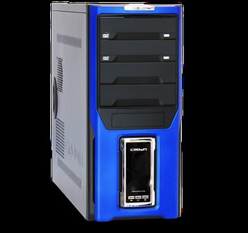 Компьютерный корпусCrown Diamond CMC-D28, чёрный с синим, без БП