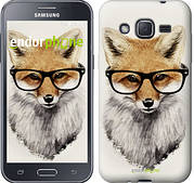 "Чехол на Samsung Galaxy J2 J200H Лис в очках ""2707c-190"""