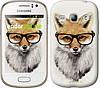 """Чехол на Samsung Galaxy Fame S6810 Лис в очках """"2707u-254"""""""