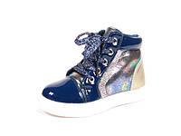Демисезонные ботинки, модная обувь для девочки р.21-26 ТМ Jong Golf,код A-2556 Синий