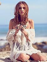Туника женская кружевная, белая