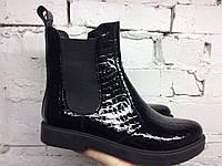 Ботинки лаковые Челси