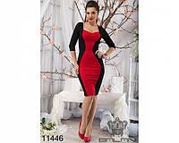 Платье женское нарядное красивое Сердце черное с красным