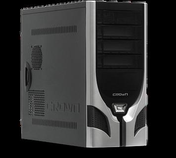 Компьютерный корпус Crown Diamond CMC-D23,чёрный с серым, без БП