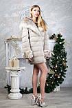 "Шуба из норки ""Платинум блонд"" с капюшоном Real mink fur coats jackets, фото 3"