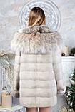 "Шуба из норки ""Платинум блонд"" с капюшоном Real mink fur coats jackets, фото 4"