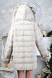 "Шуба из норки ""Платинум блонд"" с капюшоном Real mink fur coats jackets, фото 5"