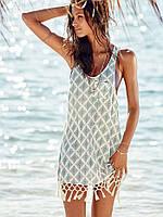 Женская легкая платье туника ромбы