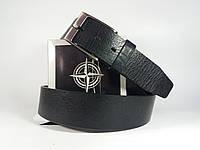 Кожаный ремень мужской черный Tony Perotti (cinture i dogi) Италия