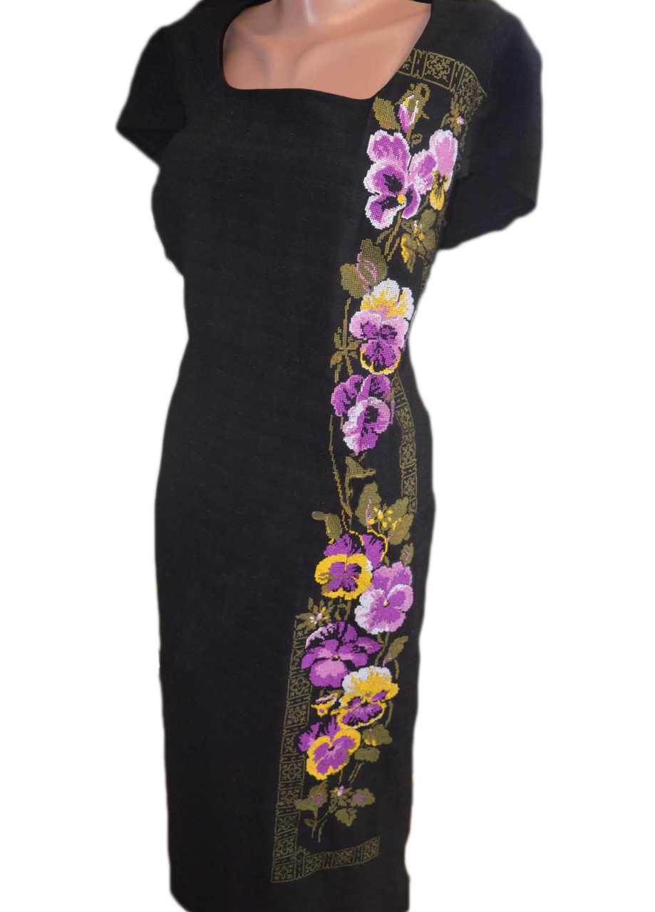 """Жіноче вишите плаття """"Ноклі"""" (Женское вышитое платье """"Нокли"""")  PR-0015"""