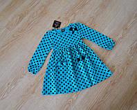 Детское платье в горошек 98-116 размеры