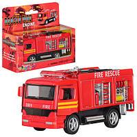 Машинка KS 5110 W  металл, инер-я,пожарная,12,5-5-4,5см, в кор-ке,15-12,5-5,5см