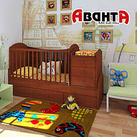 """Детская кроватка-трансформер """"DREAM"""" (ЯБЛОНЯ ЛОКАРНО)"""